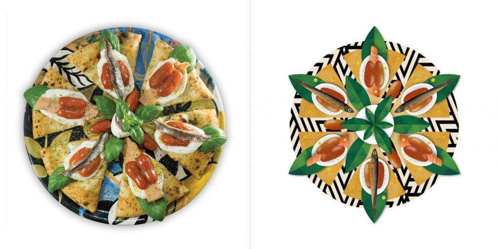 Sublime food design piatti Capperi Che Pizza