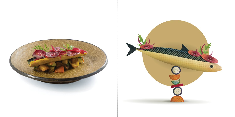 Sublime food design piatti hide matsumoto